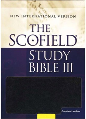 The Scofield Study Bible III, NIV, Black Genuine Leather Indexed 1984  -