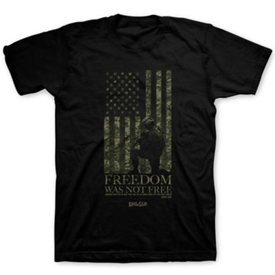 Freedom Was Not Free Shirt, Black, 3X-Large    -