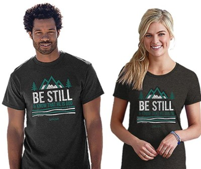 Be Still and Know That He is God Shirt, Gray, 4X   , Unisex  -