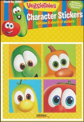 VEGGIETALES Character Stickers Tabbies