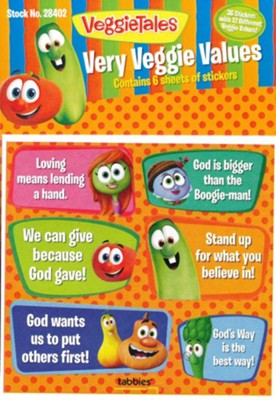 Very Veggie Values, VeggieTales Stickers   -