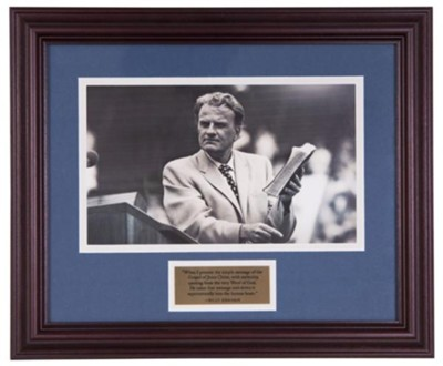 Billy Graham and the Bible, Commemorative Print   -