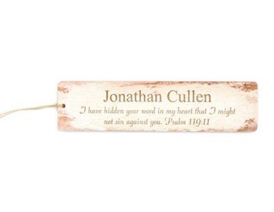 Personalized, Wooden Bookmark, Psalm 119:11   -