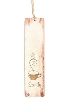 Personalized, Wooden Bookmark, Coffee Cup   -
