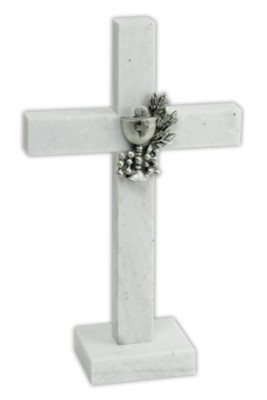Communion Standing Cross, White  -