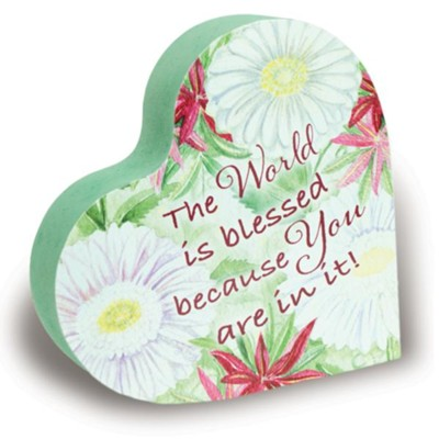 You Are An Amazing Grandma Floral Heart Block  -