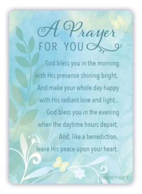 A Prayer For You Metal Prayer Card  -
