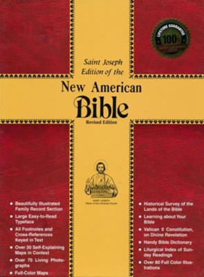 NABRE St. Joseph Deluxe Gift Edition Bible, Bonded leather, Black, Full Size  -