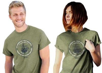 A Smooth Sea Never Made a Skilled Sailor Shirt, Military Green, XX-Large    -