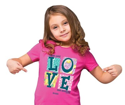 Love One Another Shirt, Pink, Youth Medium  -