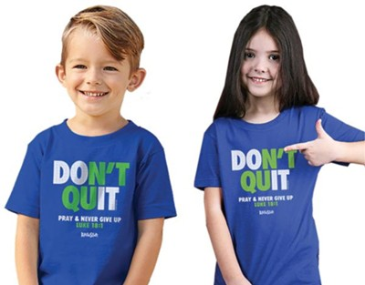 Don't Quit Shirt, Royal Blue, Toddler 3 , Unisex  -