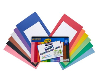48-Pack Crayola Project Giant Construction Paper (Assorted Colors)
