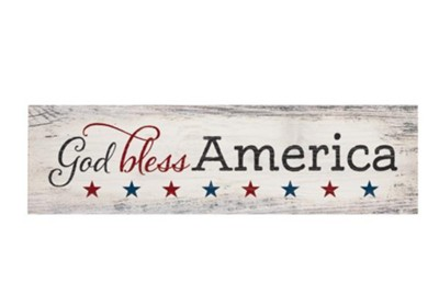 God Bless Americamini Plaque  -