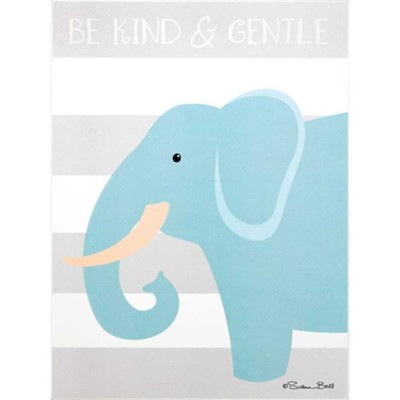 Be Kind and Gentle, Elephant, Plaque  -