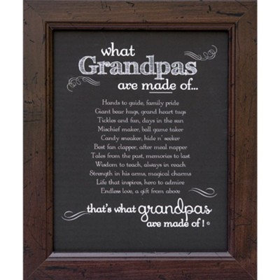 What Grandpas Are Made Of Framed Art  -     By: Made of Chalkboard