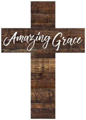 Amazing Grace Wood Cross  -