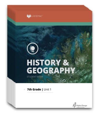 Lifepac History & Geography Workbook Set, Grade 7   -