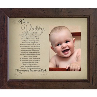Dear Daddy Photo Frame  -     By: For Him