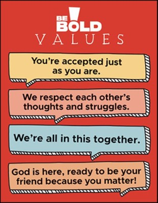 Be Bold Values Poster   -