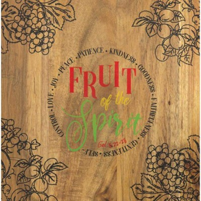 Fruit of the Spirit Wooden Cutting Board  -
