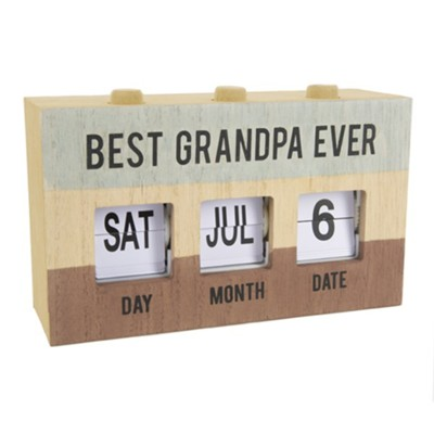 Best Grandpa Ever Perpetual Desk Calendar  -     By: Man Made
