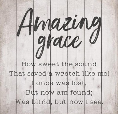 Amazing Grace Pallet Art  -