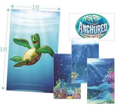 Anchored: Giant Decorating Posters (set of 5, 3 ft. x 5 ft.)  -