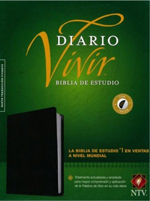 NTV Biblia de estudio del diario vivir, Piel fab negro, NTV Life Application Study Bible--bonded leather, black (indexed)  -