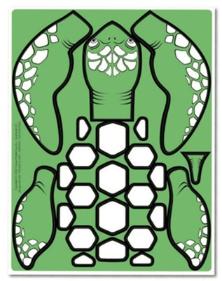Anchored: Preschool Turtle Craft Pieces (pkg of 10 sheets)  -