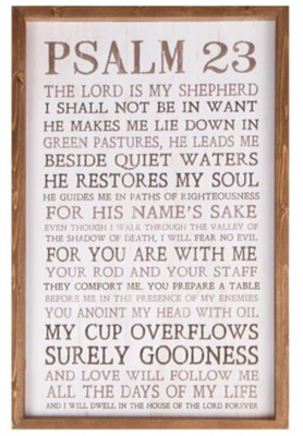 Psalm 23 Framed Art Christianbook Com