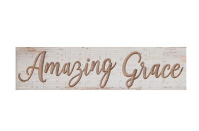 Amazing Grace Block Art  -