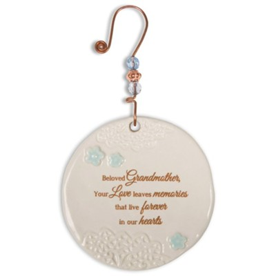 Beloved Grandmother Ceramic Ornament  -