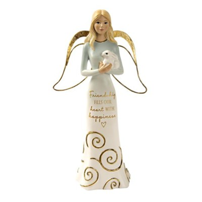 Friendship Fills Our Hearts Angel Holding Bunny Figurine  -     By: Comfort Collection