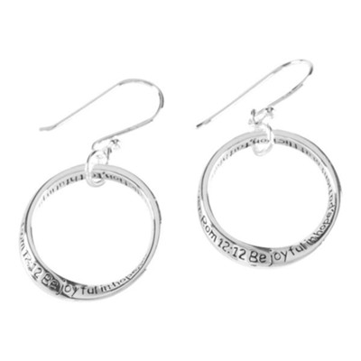 Be Joyful in Hope Mobius Earrings  -