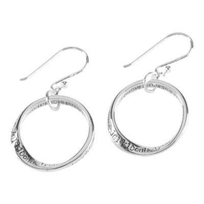 Don't Let Your Heart Be Troubled Mobius Earrings  -