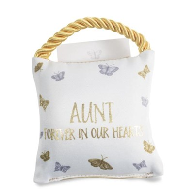Aunt Forever in Our Hearts, Pocket Pillow  -