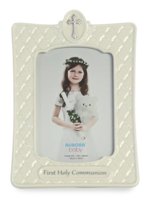 First Holy Communion Photo Frame White Christianbookcom