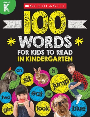 100 Words for Kids to Read in Kindergarten  -