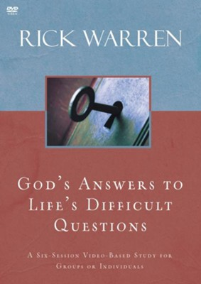 God's Answers to Life's Difficult Questions, DVD  -     By: Rick Warren