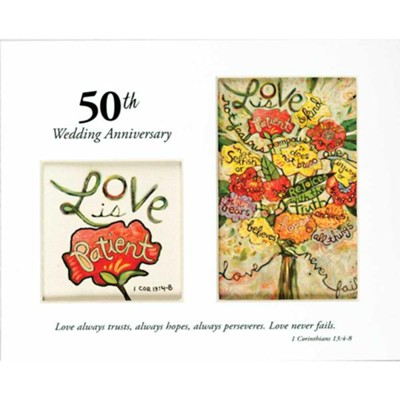 50th Wedding Anniversary, Love is Patient, Photo Mat   -