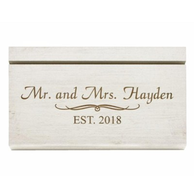 Personalized Recipe Card Holder Mr And Mrs White