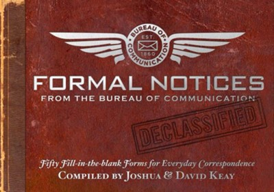 Formal Notices: 50 Fill-in-the Blank Correspondences for Everyday Occasions  -     By: Magnetism Studios