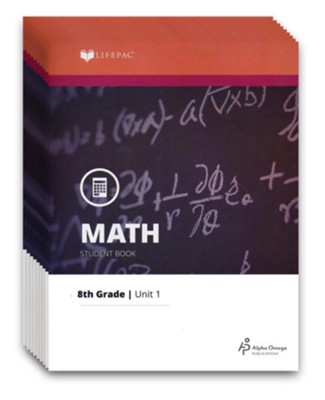 LIFEPAC Math Grade 8 (Pre-Algebra & Pre-Geometry 2) Workbook  Set (Updated Edition)  -