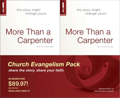 More Than a Carpenter, 30 Book Pack  -     By: Josh McDowell, Sean McDowell