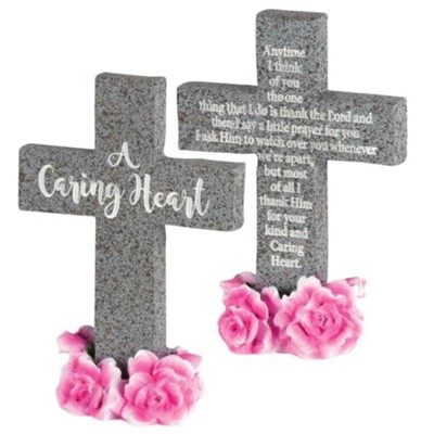 A Caring Heart Tabletop Cross  -