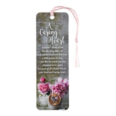 A Caring Heart Bookmark with Tassel  -