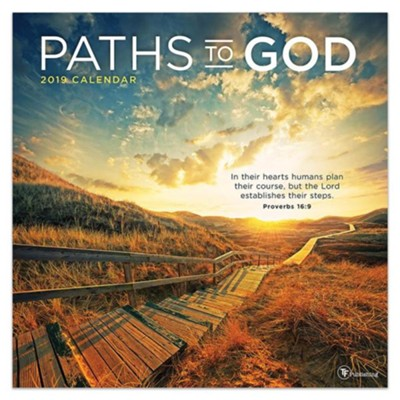 2019 Paths to God Wall Calendar  -