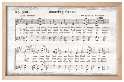 Amazing Grace Framed Wall Decor  -