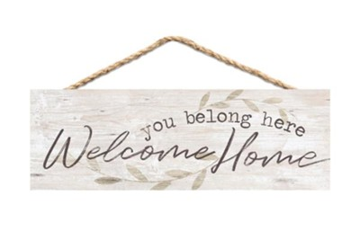 You Belong Here Welcome Home Jute Hanging Decor  -