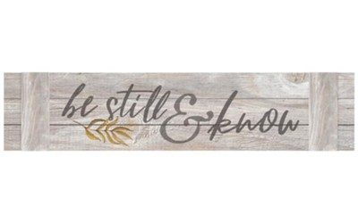 Be Still and Know Wall Decor  -